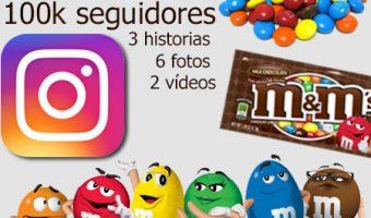M&M's premia la fidelidad en Instagram Stories